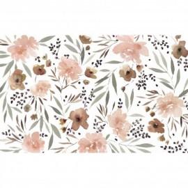Холст Акварельные цветы