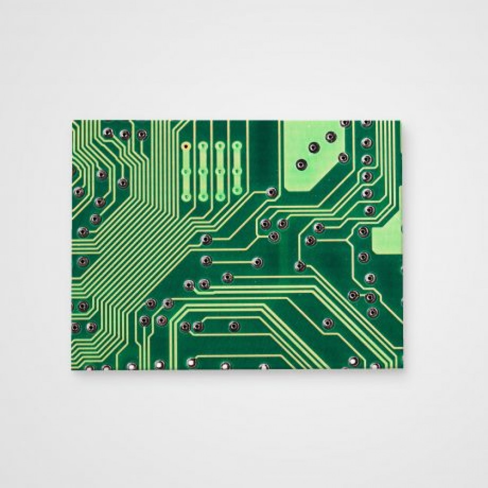 Холст Микросхема зеленая