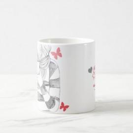 Чашка Девушка и бабочки