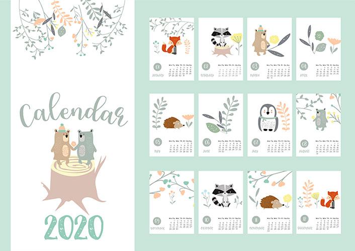 Макеты Календарей
