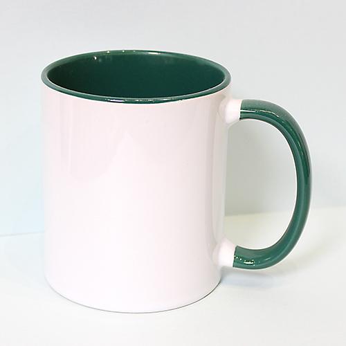 Чашка с цветной внутренностью и ручкой, 330 мл