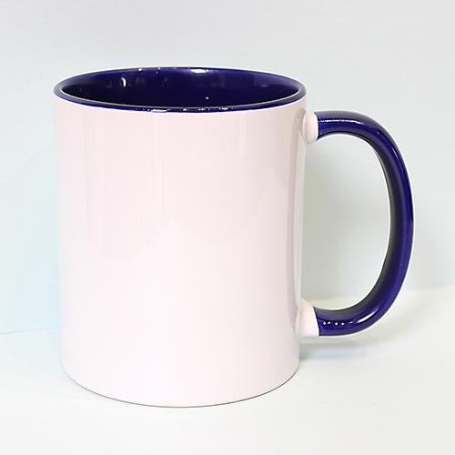 Чашка с цветной ручкой и внутренностью